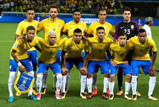 Đội tuyển Brazil tại World Cup 2018.